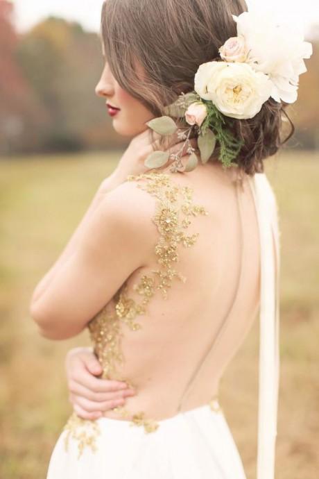 mariage dore robe de mariee