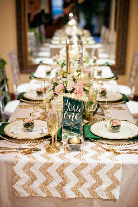 mariage dore table reception dore