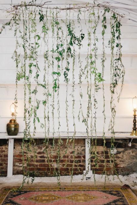 mur vegetal rideau de branche