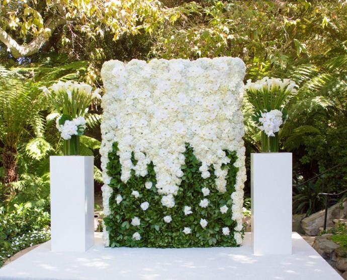 photocall vegetal vert et blanc