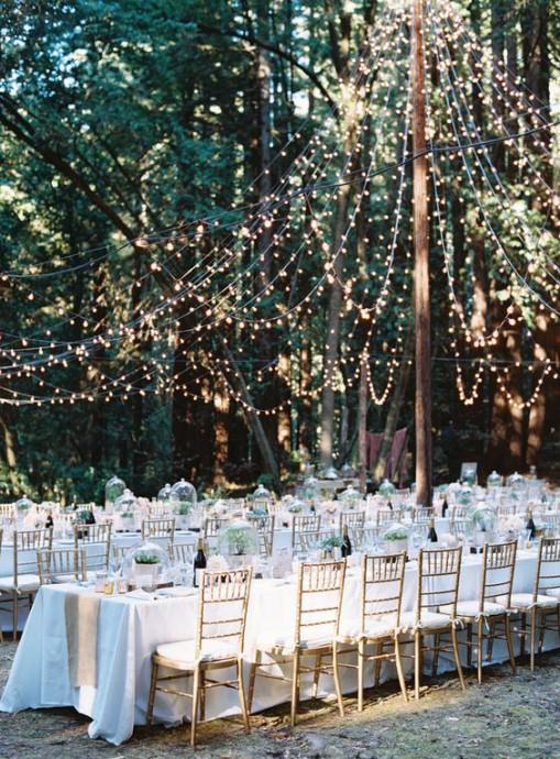 reception mariage constellation guirlande lumineuse