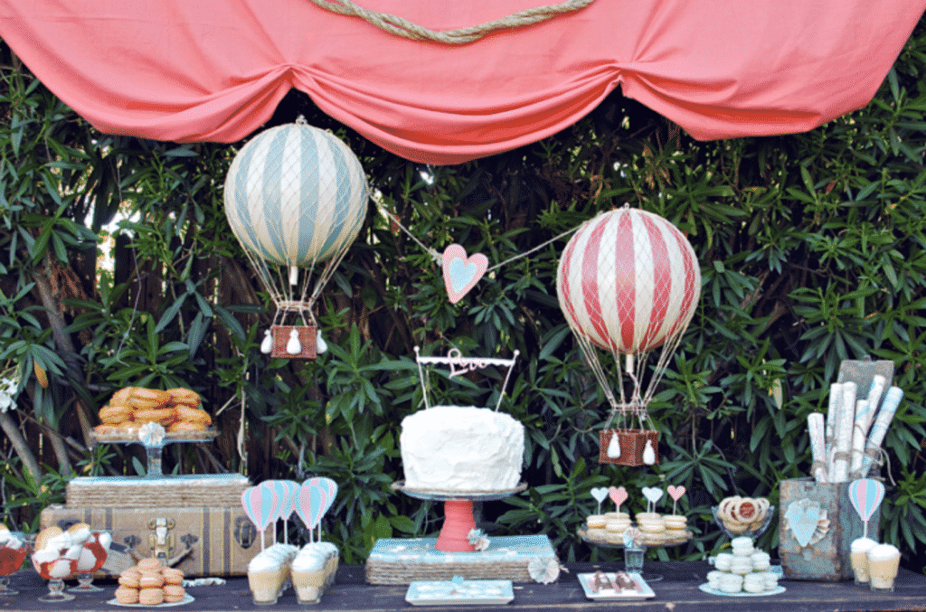 sweet table mariage montgolfiere