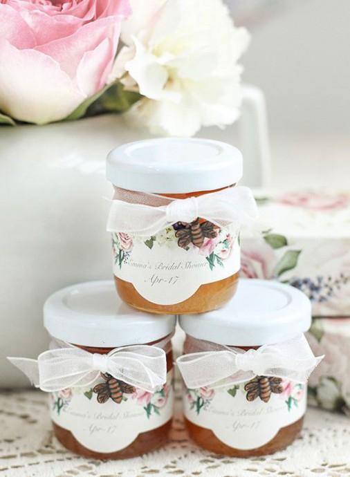 cadeaux invites pots de miel mariage campagne chic