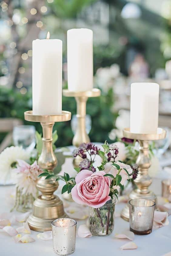 decoration mariage boigeoire dore