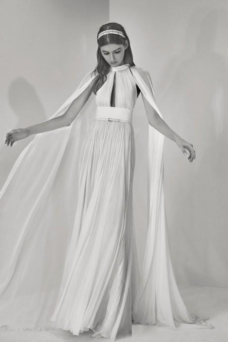 elie saab 2017 look 3 robe de mariee cape