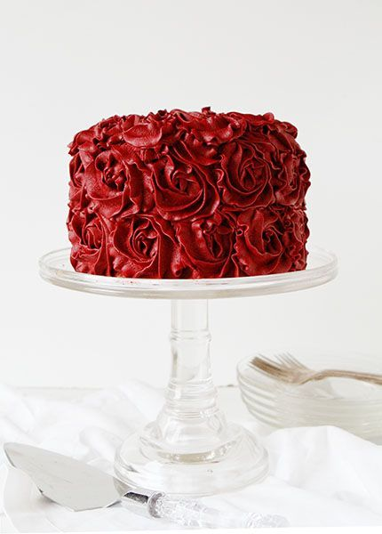 gâteau mariage rose rouge saint valentin