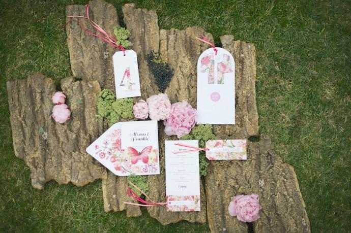 jardin anglais mariage faire part