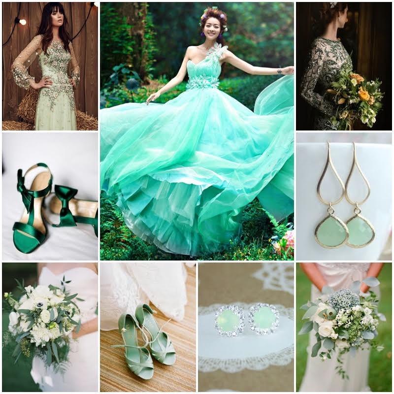 la mariee en vert