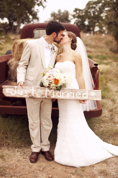 mariage campagne chic couple camionnette