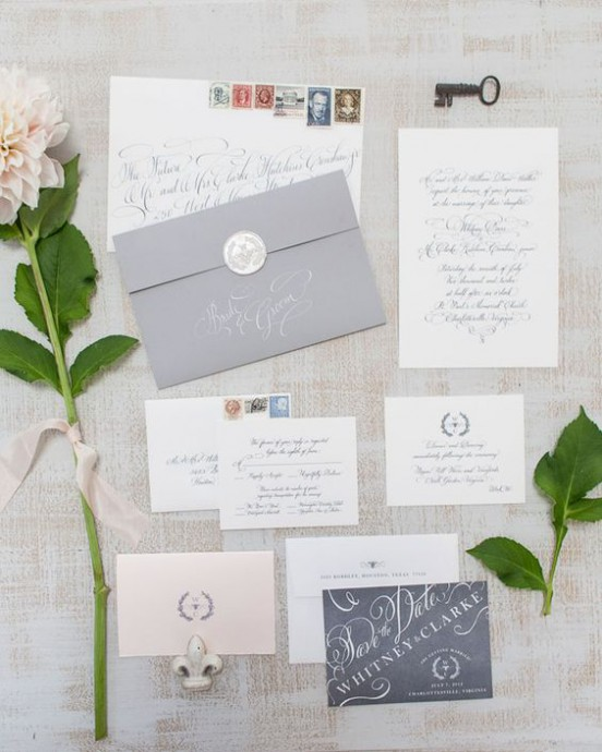 mariage campagne chic faire part