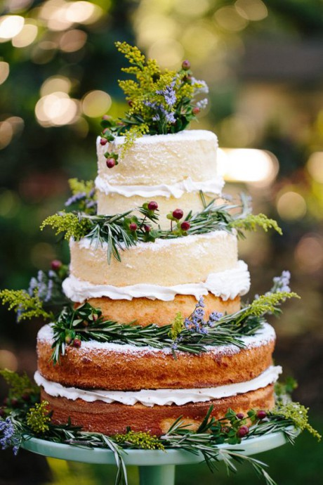mariage campagne chic gateau mariage