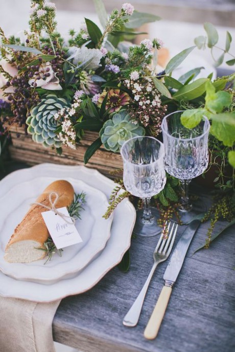 mariage campagne chic table