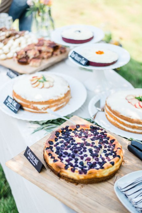 mariage campagne chic tarte sweet table