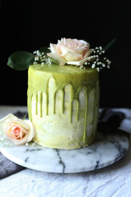 mariage greenery gateau mariage