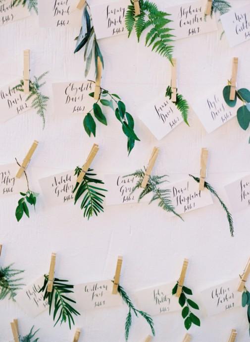 mariage greenery plan de table vegetal
