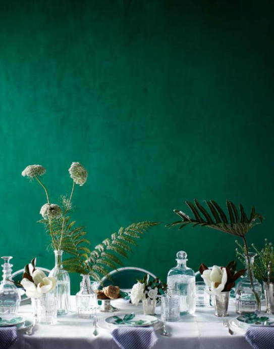 mariage greenery table