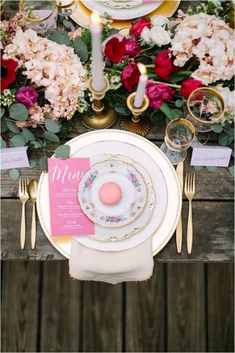 mariage jardin anglais table