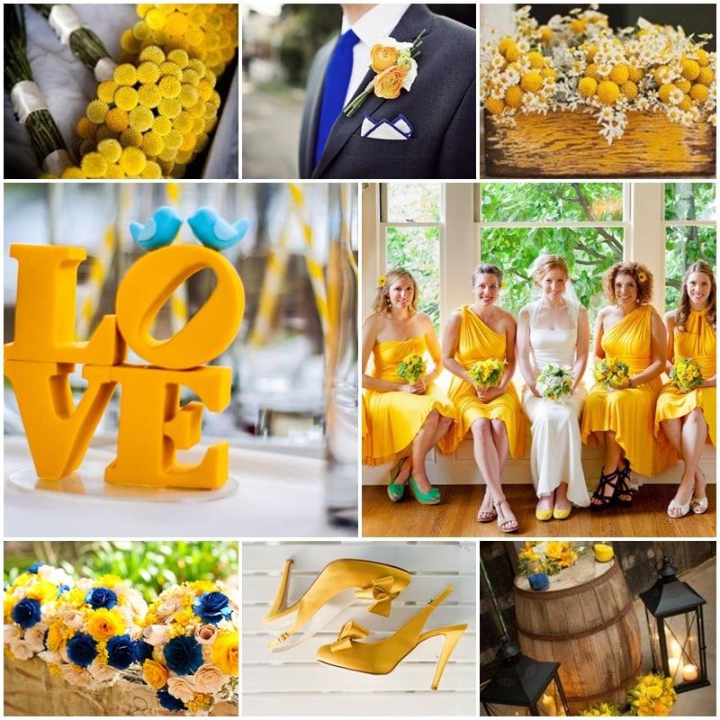 mariage jaune canari