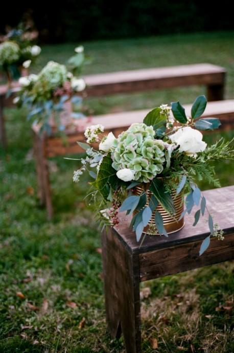 mariage-boîtes de conserve-vase
