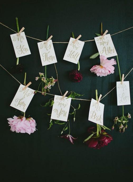 plan de table fleurs saint valentin
