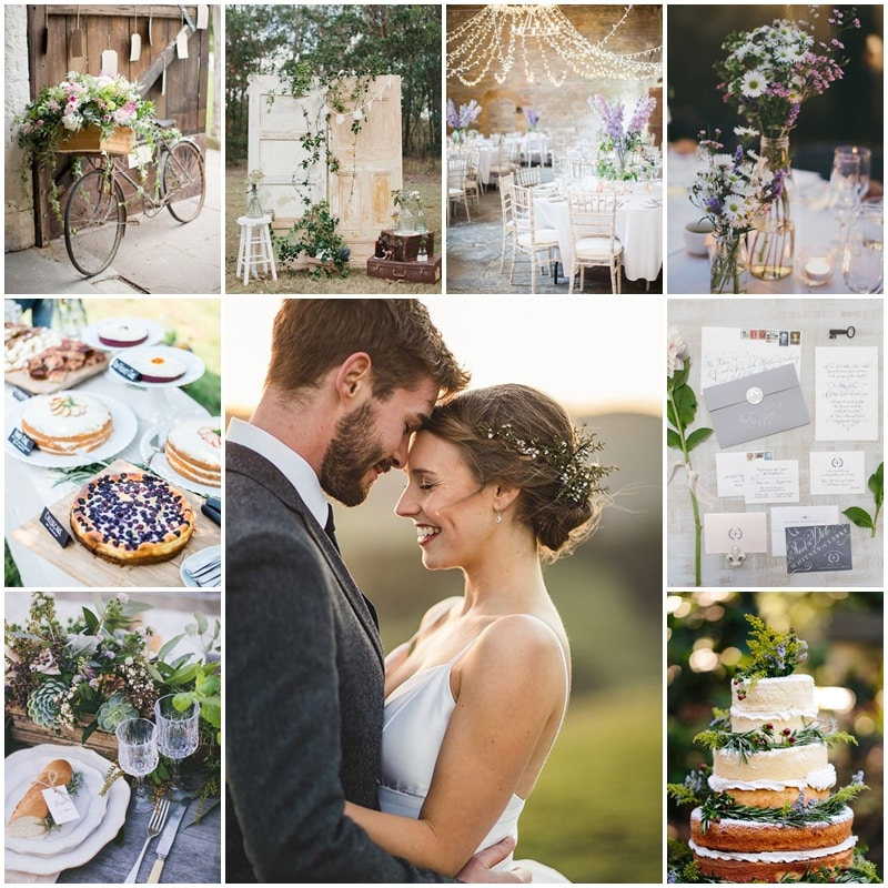 planche mariage campagne chic