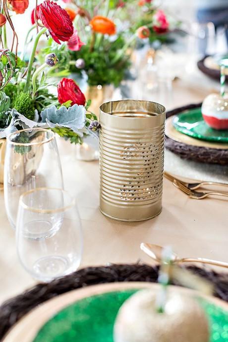 recuperation decoration mariage boite de conserve numero table
