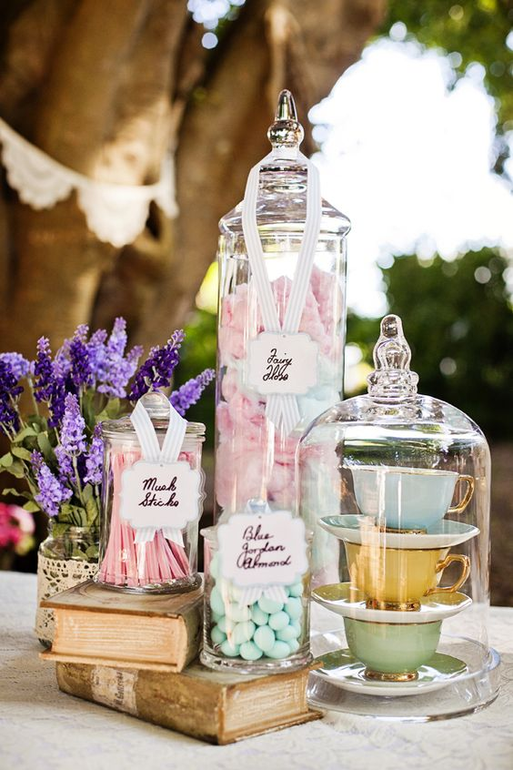 sweet table mariage jardin anglais