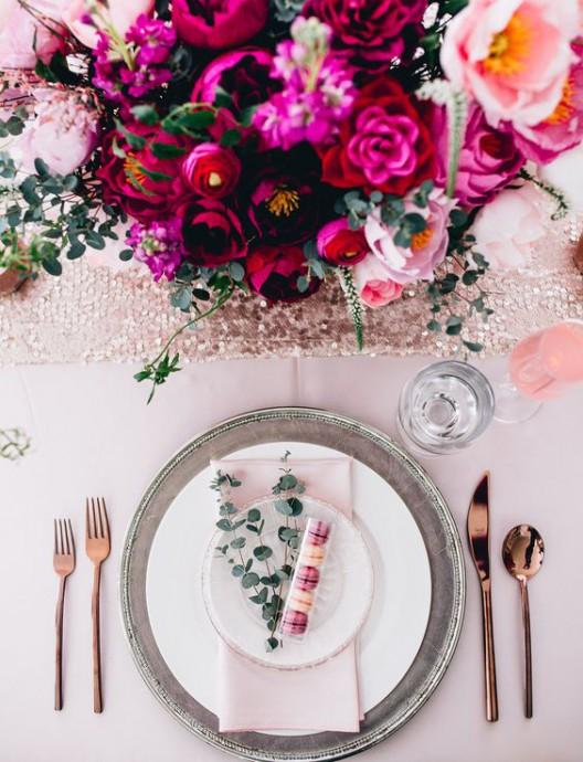 table de mariage saint valentin
