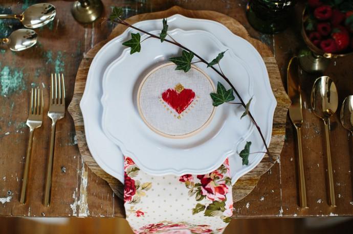 table mariage saint valentin coeur