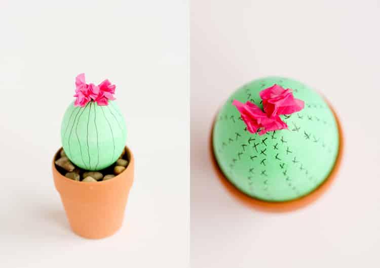 comment transformer des ufs en cactus rigolos pour. Black Bedroom Furniture Sets. Home Design Ideas