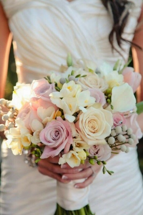 bouquet de mariee fleurs paques