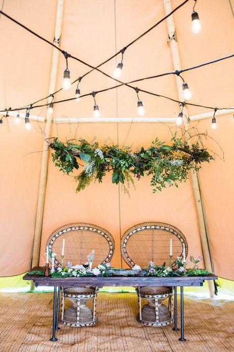 chaise en osier decoration mariage