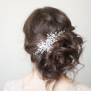 coiffure pour mariee chignon side hair
