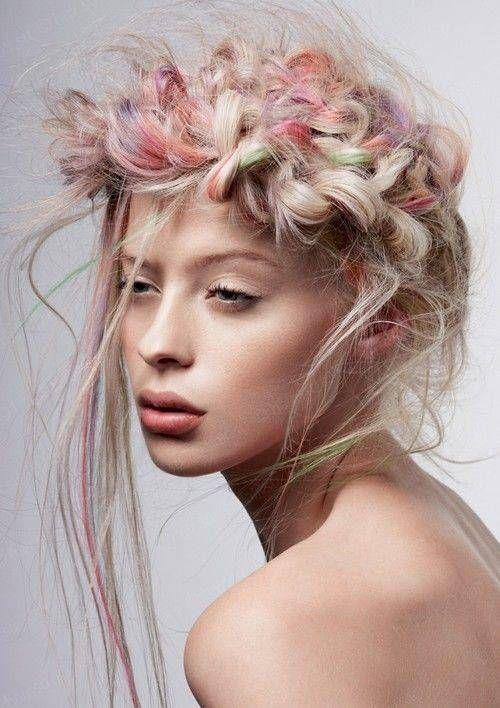 coiffure pour mariee coloree