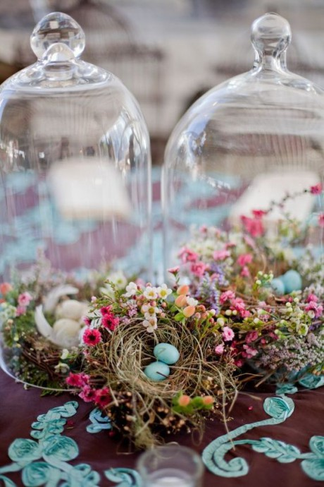 decoration mariage cloches paques
