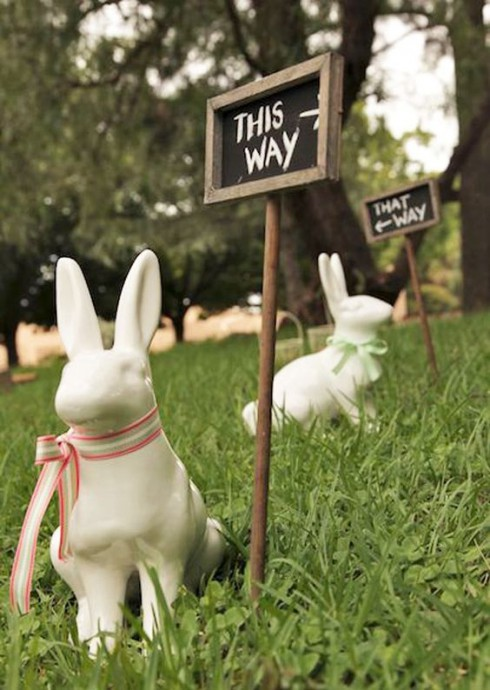 decoration mariage paques lapin