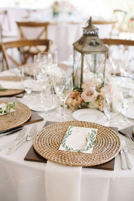 dessous de table osier decoration mariage