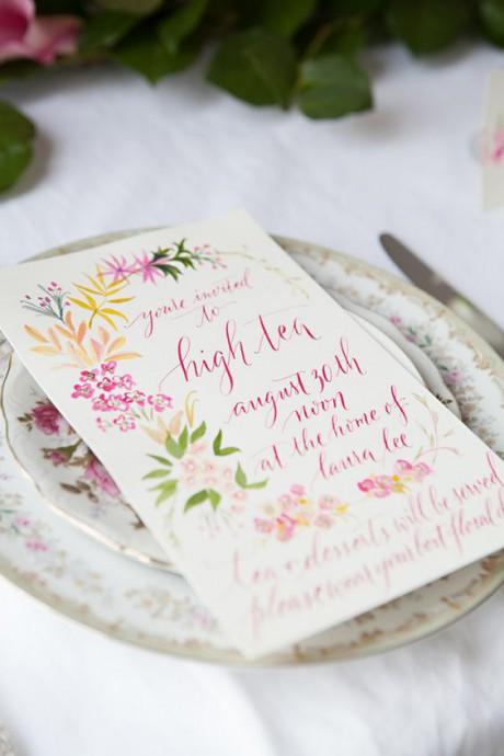 faire part de mariage paques fleurs