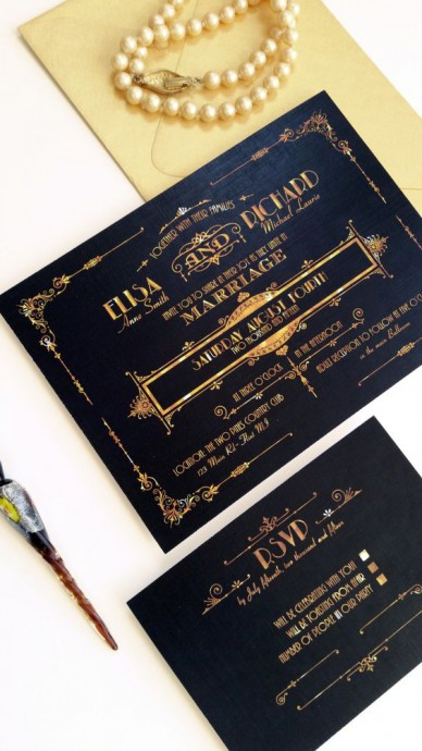 thème-hollywoodien-mariage-invitation