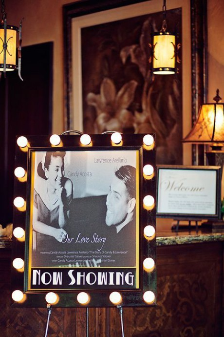 hollywood mariage decoration film