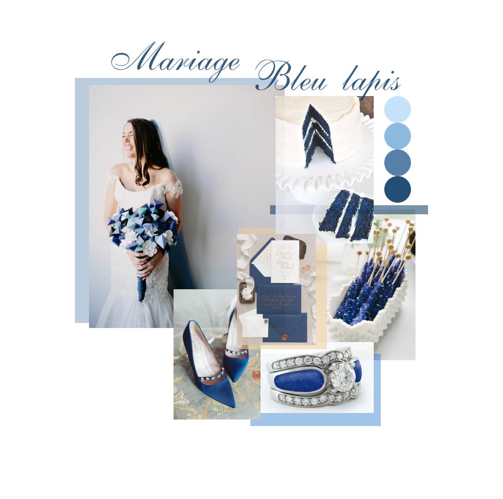 mariage bleu lapis