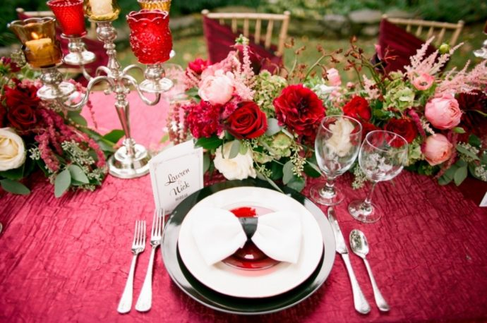 mariage hollywood table