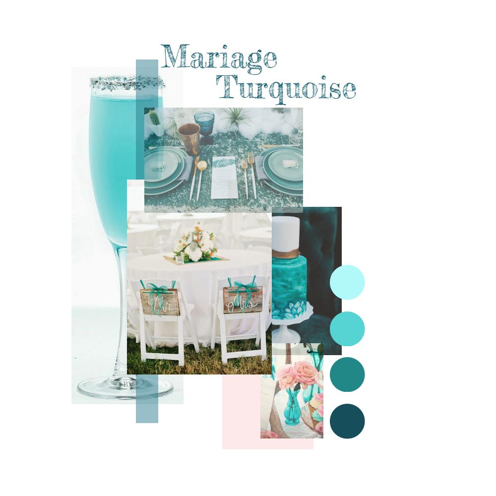 ... de mariage idée thème mariage mariage turquoise thème de mariage