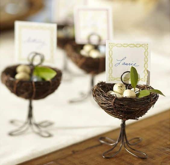 marque place oeufs paques mariage