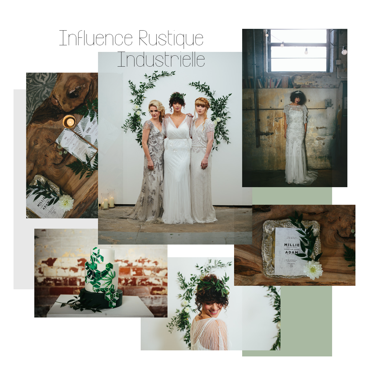 moodboard influence rustique industrielle