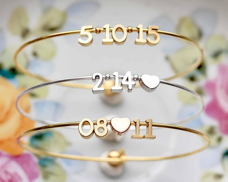 Bracelet personnalisé cadeaux invités mariage