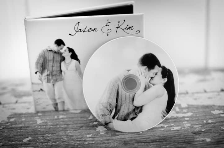 Pochette de CD personnalisée mariage