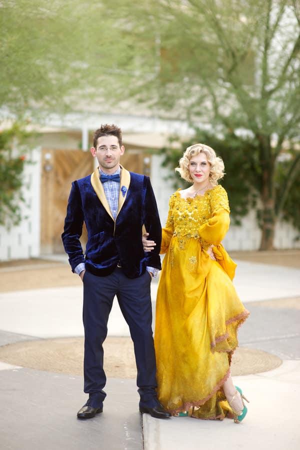 Robe de mariée jaune gatsby