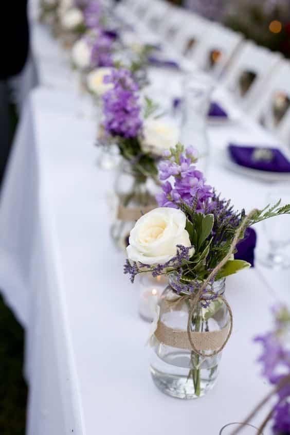 bocale eau lavande table mariage