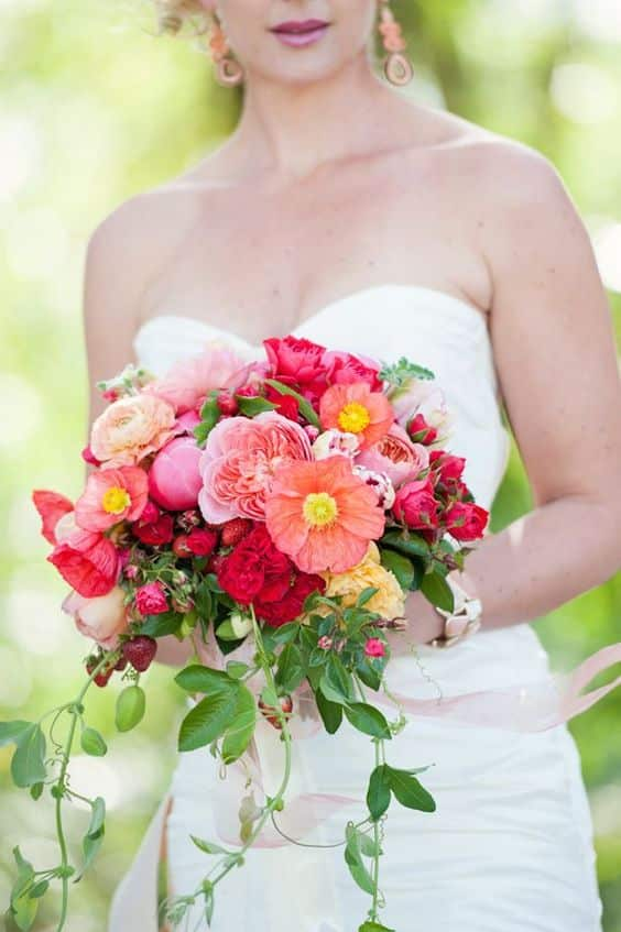 bouquet mariee de fraise